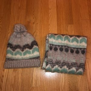 Cute Hat and Scarf Set